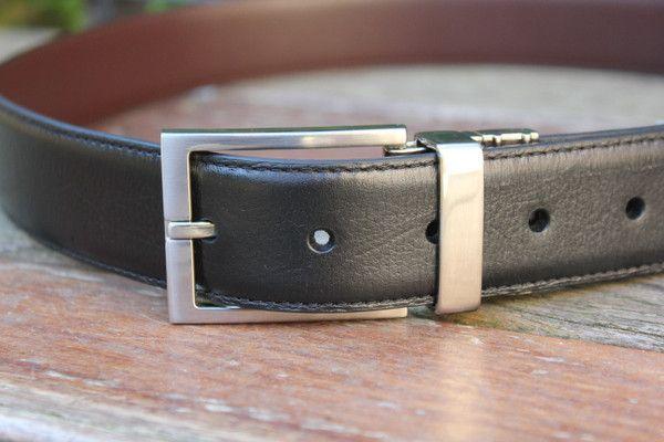 geoffrey beene - Reversible Leather Belt Gbb01