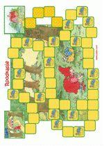 Mandspel Roodkapje 1 - spelbord - Wie is het eerst bij oma? - illustraties Dagmar Stam