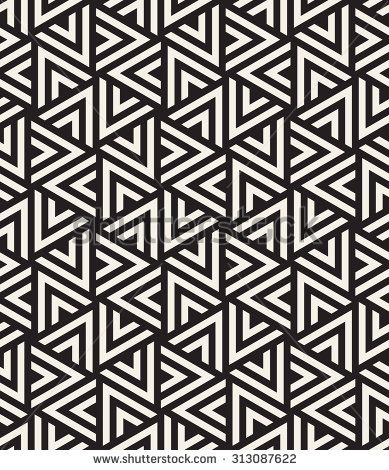 Vector seamless pattern. Modern stylish texture. Repeating geometric tiles  with striped triangles. Hipster