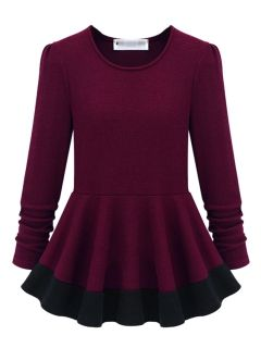 I've been looking for a long sleeved peplum top for a while and here it is not for 456 dollers and just the right length great for fall