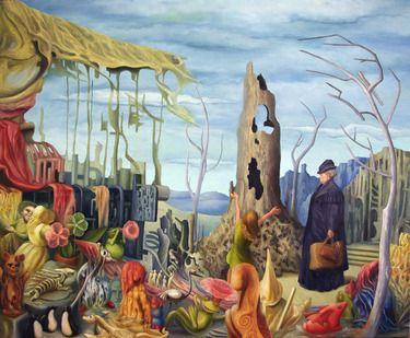 The Garden God -  oil on canvas 76cm x 91cm.