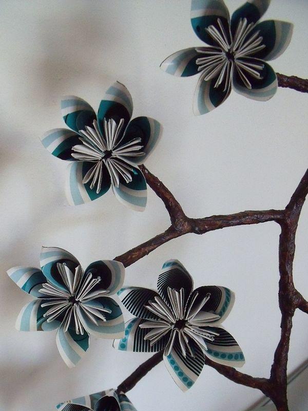 Kusudama - větvička, návod