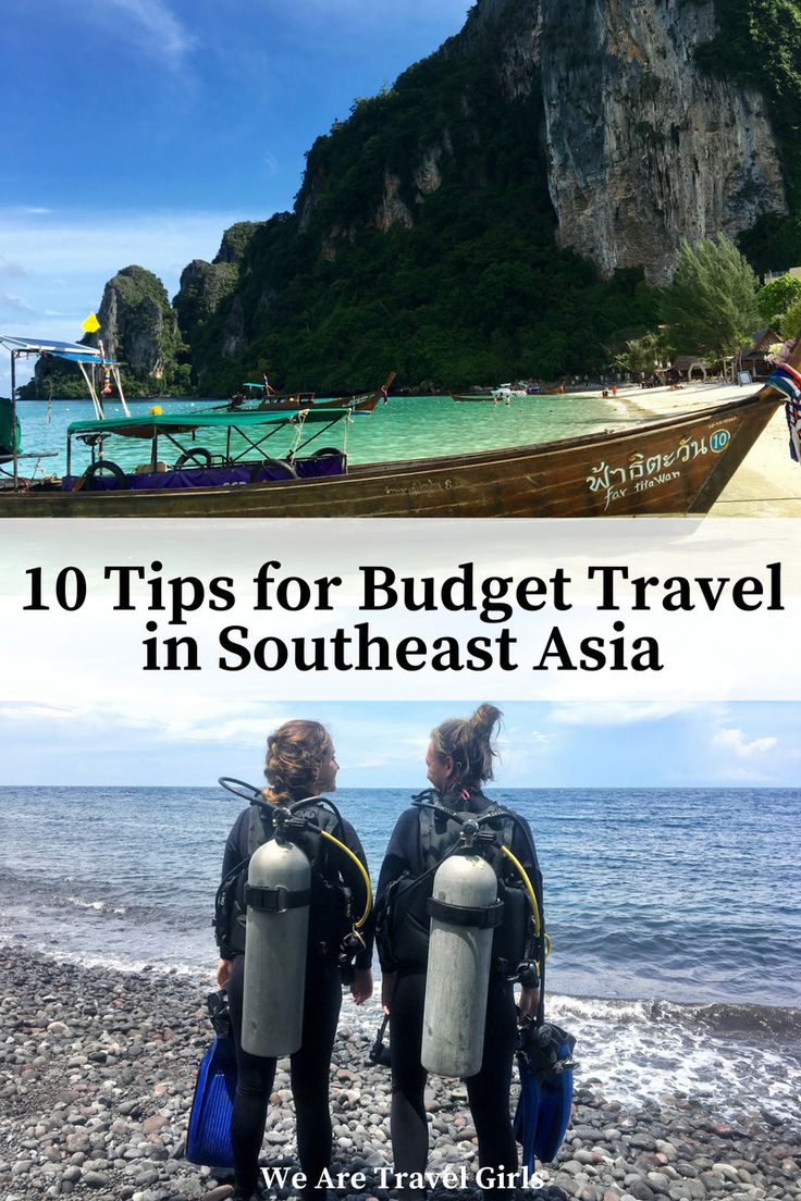 10 TIPS FOR BUDGET TRAVEL IN SOUTHEAST ASIA - 10 tips from a seasoned backpacker on a budget friendly trip through Southeast Asia, highlighting accommodation, transportation, air fare, and more! Plan an amazing trip through beautiful Southeast Asia without breaking the bank. By Shannon Boselli for WeAreTravelGirls.com