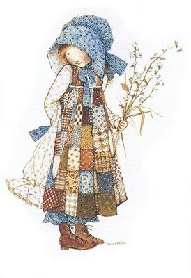 holly hobbie from childhood.  I remember these images.  Perfect little mori girls!