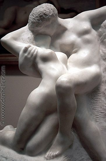 Auguste Rodin (French, 1840–1917). Eternal Spring, also known as Eternal Springtime, probably modeled 1881, this marble executed 1906–7. The Metropolitan Museum of Art, New York. Bequest of Isaac D. Fletcher, 1917 (17.120.184) obviousmag.org/por_tras_do_espelho/2012/03/14/rodin-kissers-big.jpg