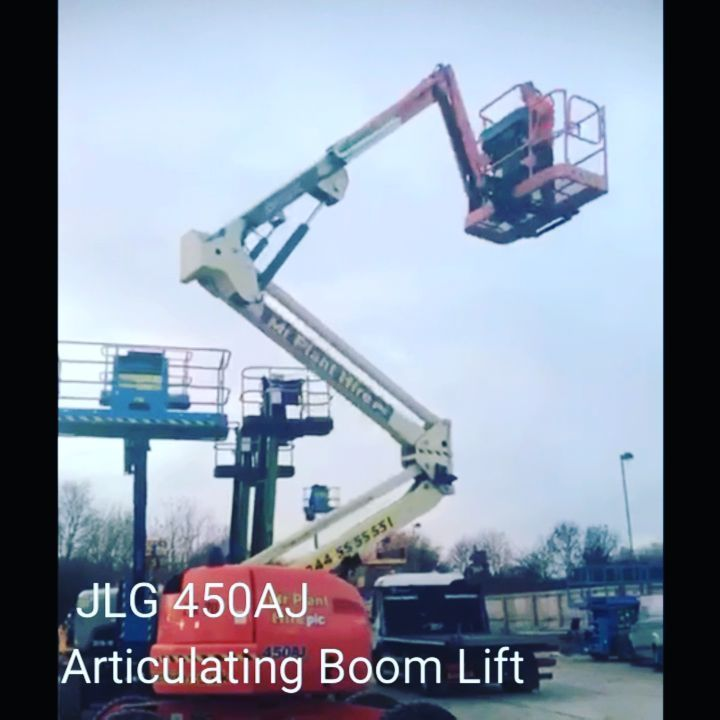 Available for SALE or for HIRE! 16m JLG 450 AJ Rough Terrain Articulated  Boom lift 4WD Diesel Easy control leads to increased productivity Compact with a working height of 15.72m Outreach of 7.45m  Up and over clearance of 7.57m Ideal for heavy construction sites general building maintenance steel erection and more To get a quote for hire or for sale:  0844 779 0211   info@mrplanthire.co.uk #MrPlantHireUK #boomlift #planthire #instavid