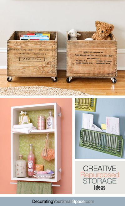 Creative Repurposed Storage Ideas!