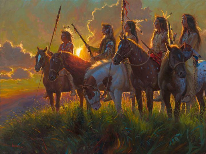 Native Sun...painting by Mark Keathley