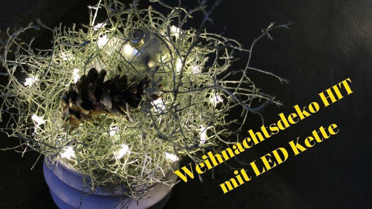 Weihnachtsdeko HIT - LED Kette in Silberköpchen - Blickfang in dunklen T...