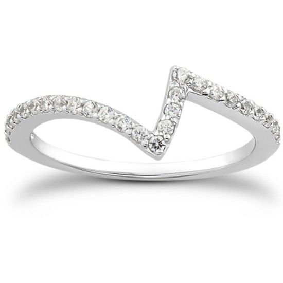 Alliansring 0.26 ct med Diamanter i 14K Vitguld