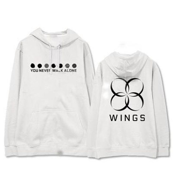 BTS Bangtan Boys You Never Walk Alone Wings Album Thick Pocket Hoodie #BTS #BangtanBoys #YouNeverWalkAlone #Wings #Album #Thick #Pocket #Hoodie #KIDOLSTUFF #KPOP