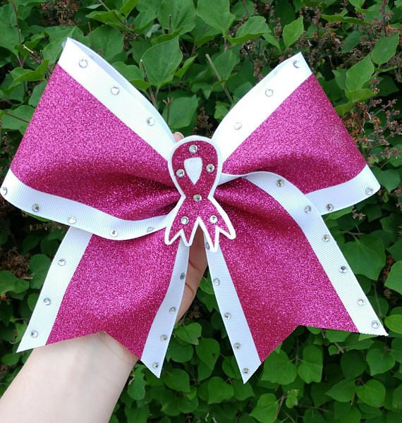 Breast Cancer awareness cheer bows pink cheer bow custom