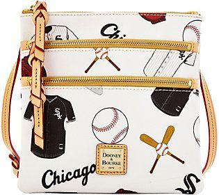 Dooney & Bourke MLB White Sox Triple Zip Crossbody