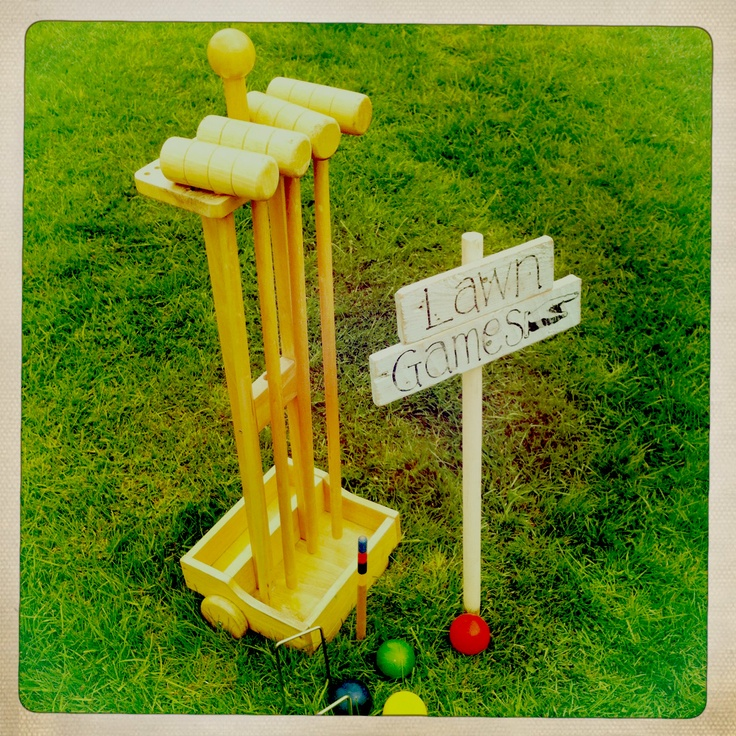Anyone for croquet!? Vintage Lawn Games to hire from www.somethingoldsomethingnew.org.uk