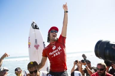 He might be injured and off the scene right now, but Jordy Smith knows what it's like to win big. Here are his four big wins.  http://surfing.about.com/od/Pro-Surfer-Profiles/fl/Jordy-Smiths-4-Big-Wins.htm  - WSL/Kirstin