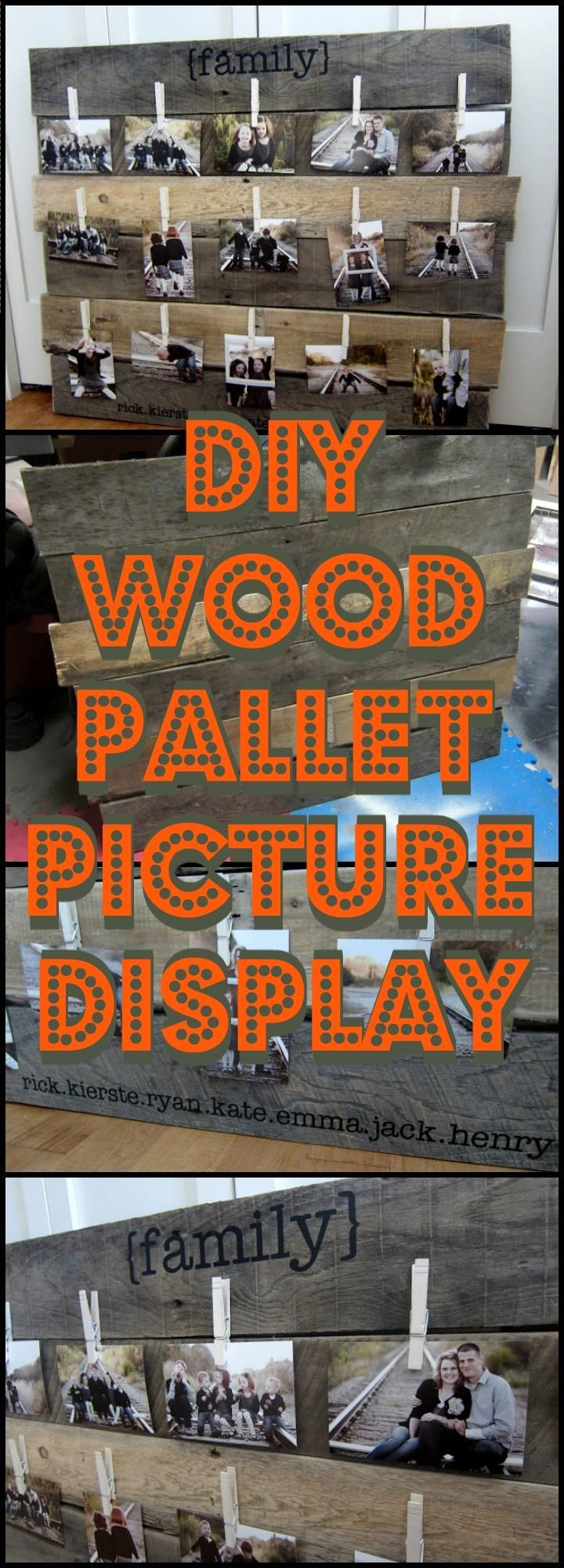 DIY Wood Pallet Picture Display - 20 Best DIY Picture Frame Ideas To Frame UP Your Best Picture