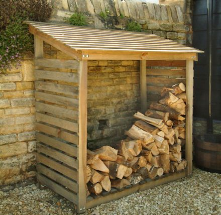 Outdoor Wooden Log Store