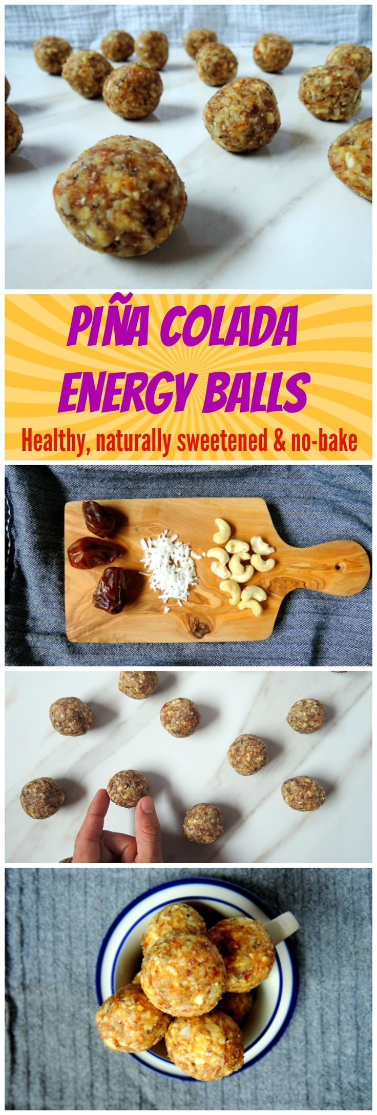 Healthy naturally sweetened tropical snack. SO DELICIOUS!