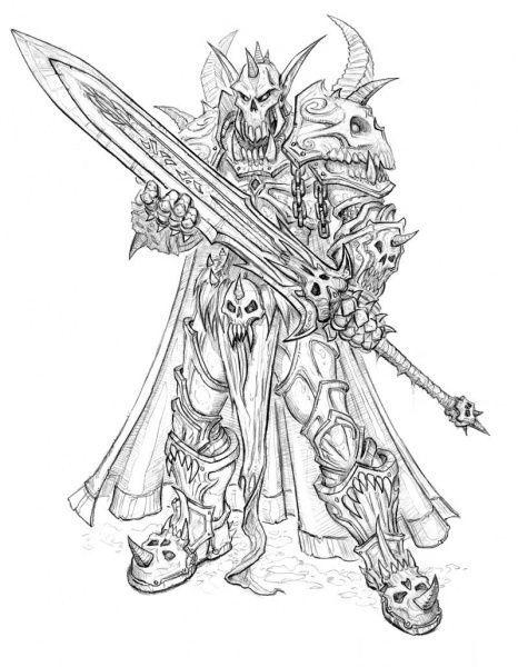 """conceptartlibrary: """"Warcraft (Blizzard) – Les chevaliers de la mort de la lame d'ébène ….."""