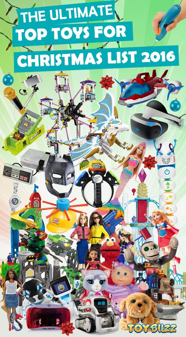 Parents save this list! It contains all the top toys for Christmas 2016. If your kids want it for Christmas, it's on this list.