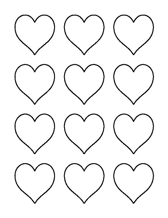 2 inch heart pattern Use the printable