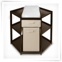 Badger Basket Espresso Diaper Corner Baby Changing Table with Hamper & Basket $169.98