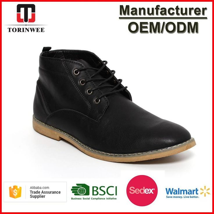 High Top Deseart Boots men Leather shoes