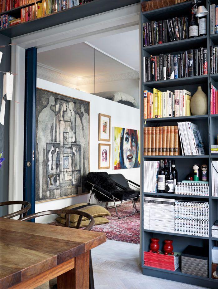 Ljuvligt sekelskifteshem med personlig konst och kreativa lösningar | ELLE Decoration