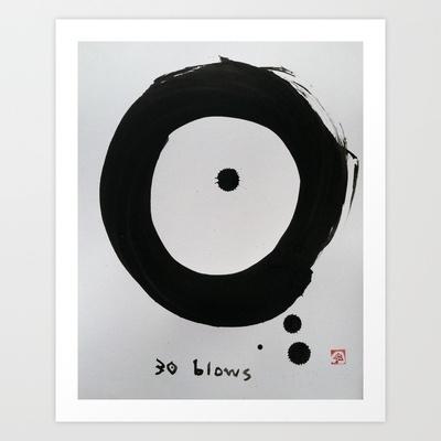 """ENSO : """"30 blows"""" Art Print by SEPPUKU Ink - $20.00"""
