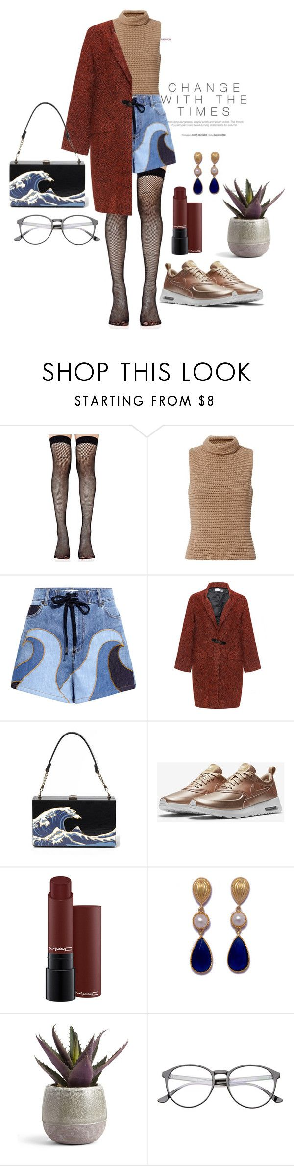 """""""cool girl look"""" by nover on Polyvore featuring Music Legs, Exclusive for Intermix, RED Valentino, Bohème and NIKE"""