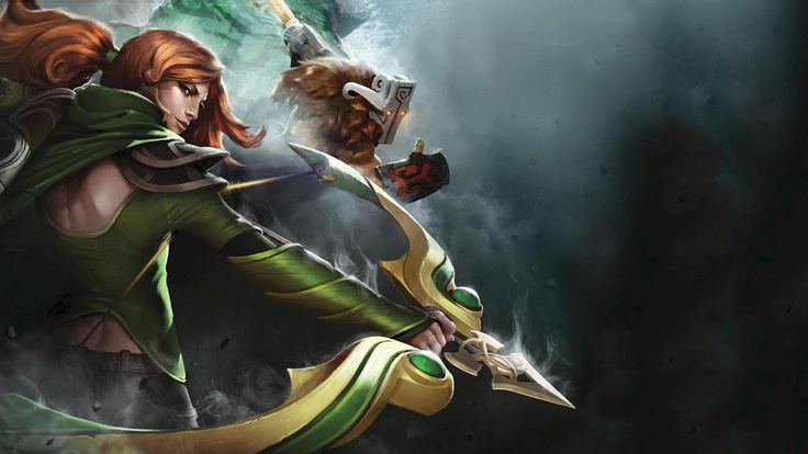 DOTA 2 Windrunner and Juggernaut Art #dota2 #dota2Fanatic #dota Addicts #Dota-Fun-Art