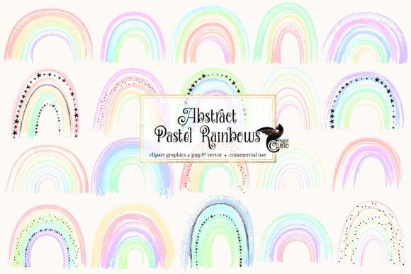 Abstract Pastel Rainbows Clipart Graphic By Digital Curio Creative Fabrica Rainbow Clipart Clip Art Rainbow Abstract