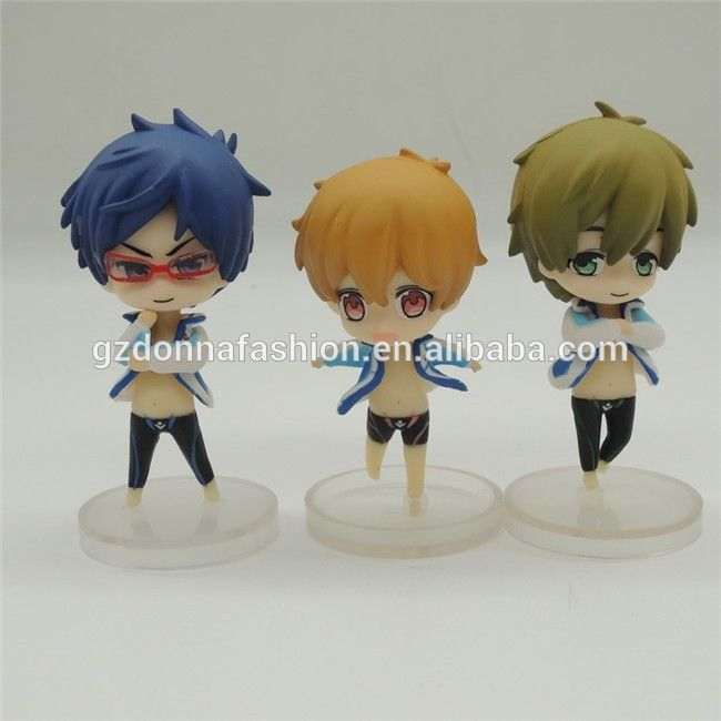 Iwatobi Swim Club Haruka Nanase PVC Figure Toy Gift New Anime Free