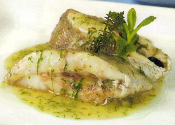 Receta de besugo en salsa verde en http www Plato rapido y facil de preparar