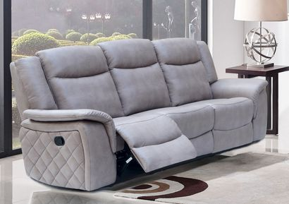 Meridian Furniture Carly Grey Leather Sofa