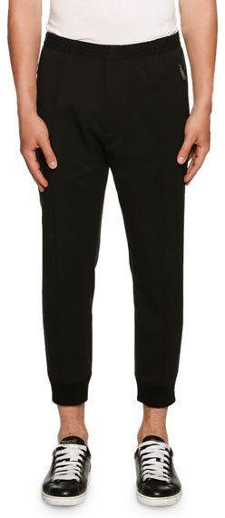 DSQUARED2 Stretch-Wool Jogger Pants, Black