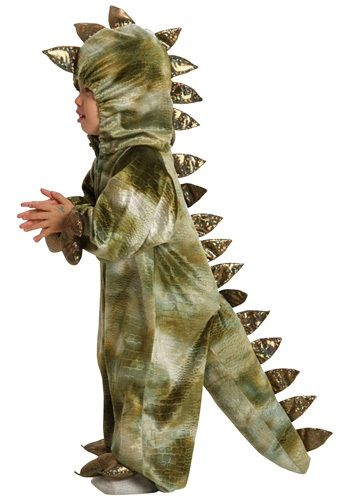 """This is the costume I found at Kids Market for $8.  Cooper loooves it...he walks around """"RAWR""""ing everyone!  Super excited for him to wear it on Halloween!"""