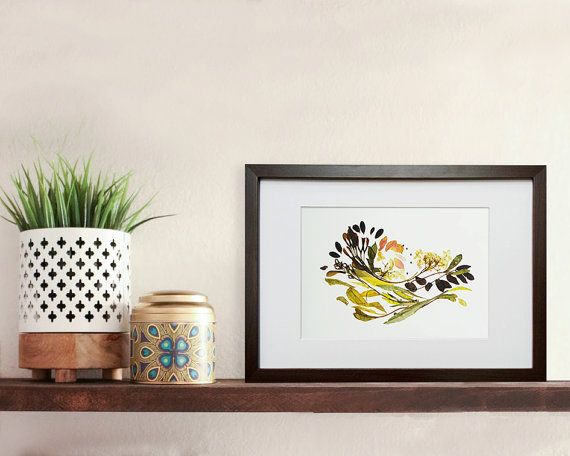Pressed flowers framed Botanical art print Framed art Dried #pressedflowers #driedflowers #botanicalprint #flowers #prints