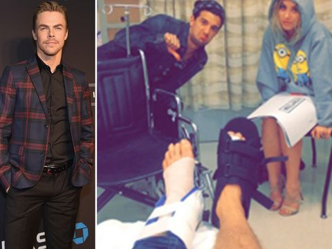 """Derek Hough missed the """"Dancing with the Stars"""" 10th Anniversary reunion on Tuesday due to an injury he suffered during rehearsals, and it sounds like he could be missing a lot more."""