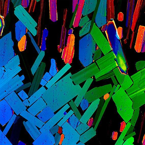 Tequila under a polarisation microscope