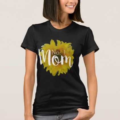 Mother's Day Mom Sunflower Yellow Floral T-Shirt - floral style flower flowers stylish diy personalize