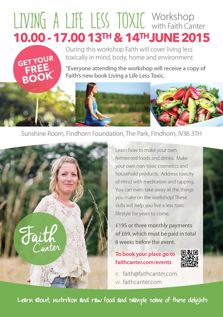 Join me for my Living a Life Less Toxic Workshop in June at the amazing #Findhorn Foundation.