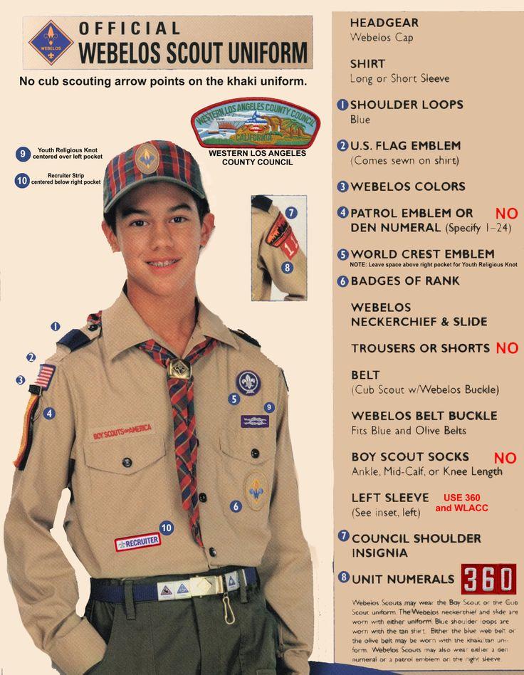 Webelo Uniform Patch Placement | Uniforms