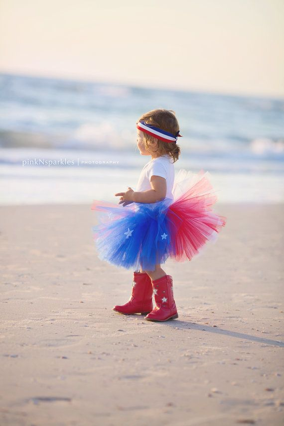 4th of July Tutu Red White and Blue Tutu 4th by PiaMiaBoutique, $20.00