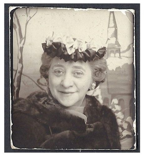 +~ Vintage Photo Booth Picture ~+  Fancy Hat Happiness :):