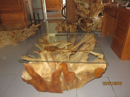 Teak root furniture - Square teak root coffee table