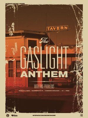 The Gaslight Anthem concert poster by Vahalla Studios