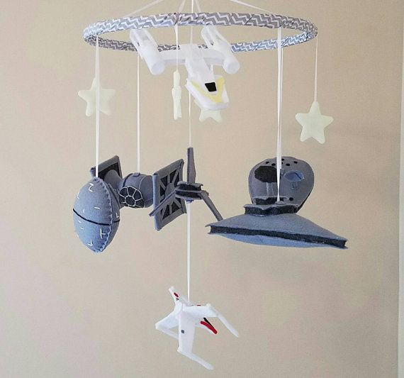 Star Wars Baby Mobile   Kinderzimmer Star Wars   Jedi   Raum Schiff   Rakete