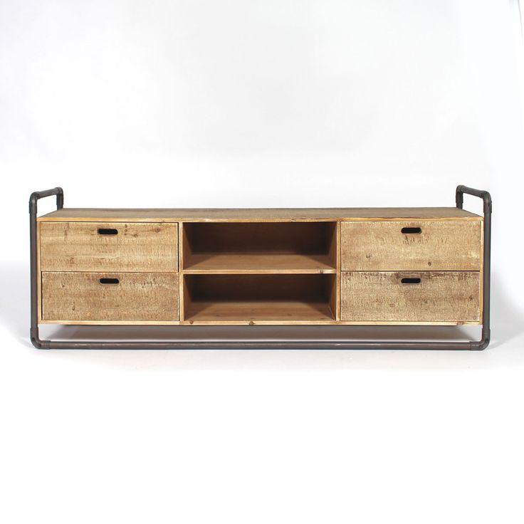 Les 25 meilleures id es de la cat gorie meuble tv industriel sur pinterest meuble tv en m tal - Relooker casier metallique ...