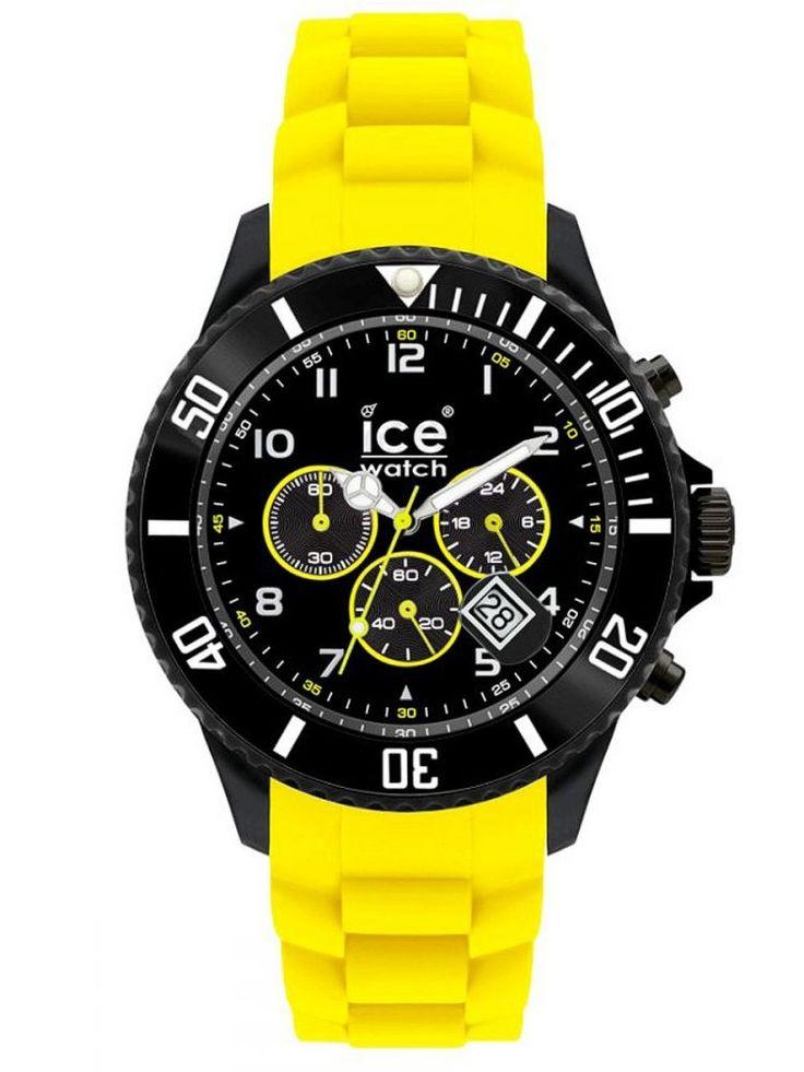 Ice Watch Chrono Yellow  - Nagyméretű kronográf óra az Ice Watchtól. Keresse a karora.hu oldalon